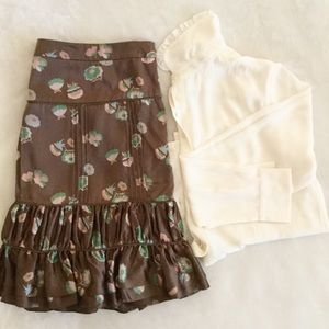 Marc Jacobs Skirt Floral Silk